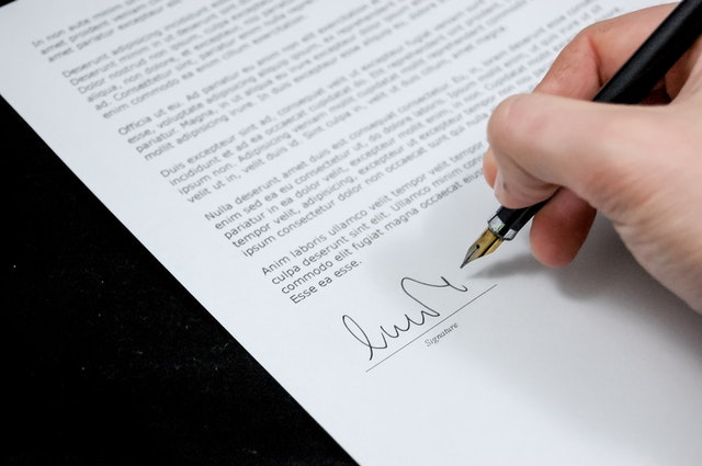 sign pen business document 48195